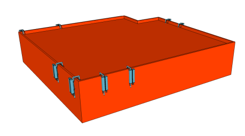 Goose-Necked-Mount-3D Roof Layout